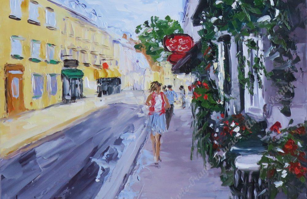 Toile huile rue de Québec marie-france lauzier